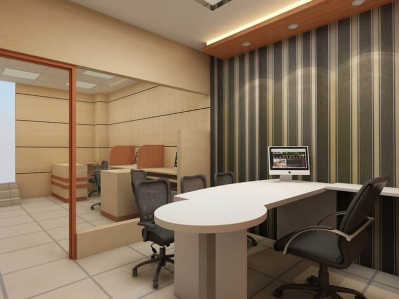 Interior designing of Commercial Office done by Kreation Architects in Delhi